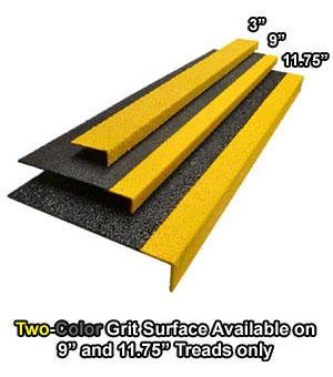 Grit Surface Fiberglass Stair Treads