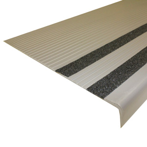 Heavy-Duty Vinyl Stair Treads with Grit Strips