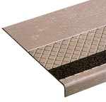 DiamondTread Rubber Stair Treads with Grit Tape Inserts