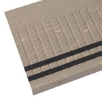 Squaretread Rubber Stair Treads with Grit Tape